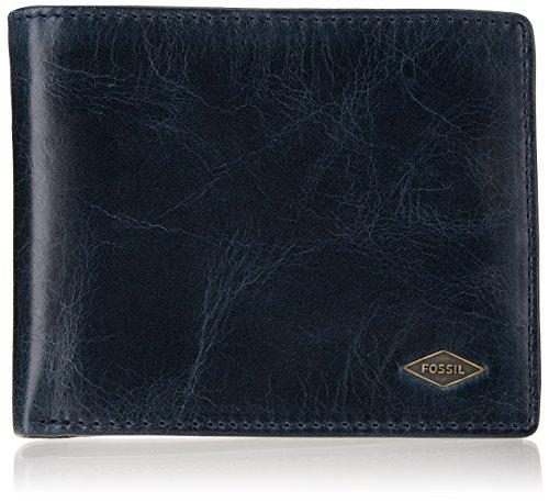 Fossil Herren Ryan Geldbörse, Blau (Navy), 2.5x9.5x12.1 cm -