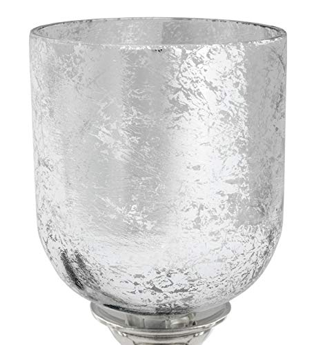 Brubaker 5 Stück Glaseinsätze für Kerzenleuchter - Silber