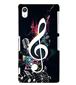 Music Special 3D Hard Polycarbonate Designer Back Case Cover for Sony Xperia Z2 :: Sony Xperia Z2 L50W D6502 D6503