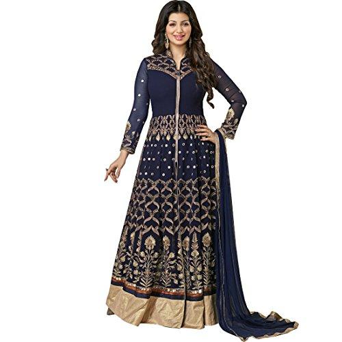Vasu Saree Ayesha Takia Blue Anarkali Salwar Kameez