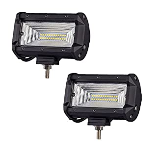 MCTECH 2 x 72W Cree LED Arbeitslicht 3600LM 6000K Offroad Flutlicht Reflektor Scheinwerfer Arbeitsscheinwerfer IP67 für SUV UTV ATV (2X72W)