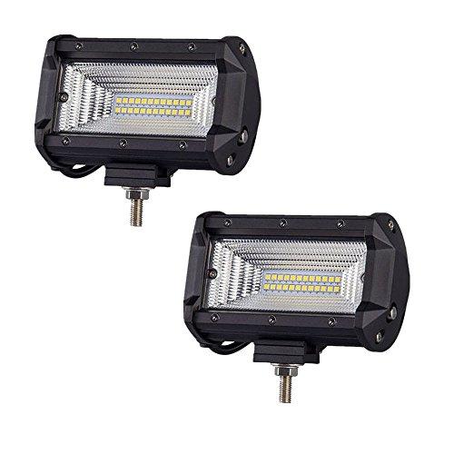 MCTECH 2 x 72W Cree LED Arbeitslicht 3600LM 6000K Offroad Flutlicht Reflektor Scheinwerfer Arbeitsscheinwerfer IP67 für SUV UTV ATV (2X72W) -