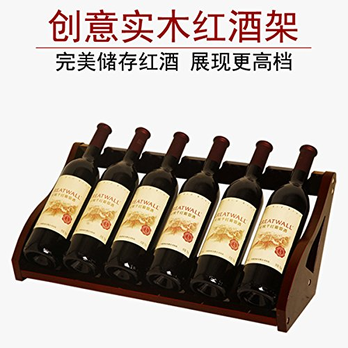 ZJWineracks moderne und minimalistische Massivholz Continental Shelf, 6 Flaschen Wein 53 cm lang (natürliche Farbe so schnell wie möglich. (Natürlichen Spalte)