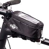 BTR Fahrradtasche und Handy-Halterung - wasserabweisende Fahrradtasche. Schwarz fahrradrahmentasche. Neue verbesserte Edition, geeignet für ALLE Fahrradtypen