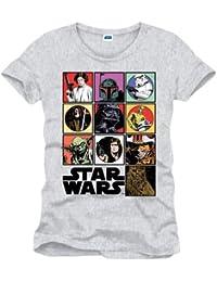 Star Wars Characters T-Shirt Baumwolle grau