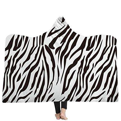 FGVBWE4R 2018 Blanket Animal Skin 3D mit Kapuze Decken Home Adult Wearable mit Kapuze Decke 3D Printing warme Winter Wearable New-06,130x150cm