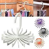 Ungfu Mall 1 PC Rack Rotating Krawatte Einstellbare Schals Speicher Halter Seidenschal Organizer Hanger