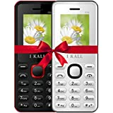 I KALL K66 Dual Sim Basic Feature Mobile Phone Combo Of Two- Red And White