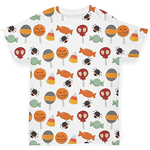 TWISTED ENVY Baby-T-Shirts, Halloween-Motiv Gr. 3-6 Monate, weiß
