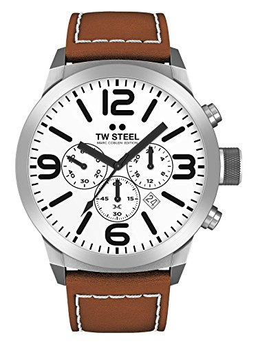 TW Steel Marc Coblen Edition Chrono mit Lederband 42 MM White/Brown TWMC10