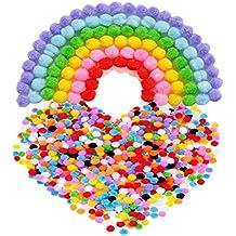 TOYMYTOY 10mm de 2000pcs pompones coloridos pompones Multicolor bola para bricolaje, manualidades y decoraciones