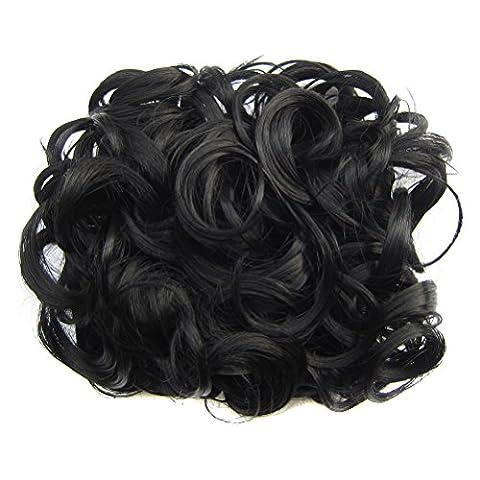 Pixnor Kurze lockige Chignon Haar Bun Erweiterung Kämme Haarspange im