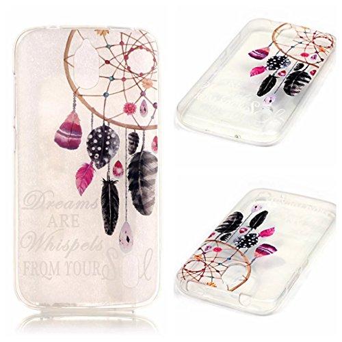 KSHOP Case Cover TPU Silikon Hülle für Huawei Y625 Taschen Schale Schutzhülle Etui dünn kratzfeste stoßdämpfende - Indien Campanula Feder
