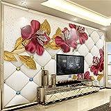 HOMEEN Hd Peint Sur Mesure 3D Photo Fond D'Écran 3D De Luxe Diamond Flower Bijoux Fond Salon Peinture Murale Fonds D'Écran Art Moderne Papel De Parede, 430X300 Cm (169,3 Par 118,1 En)