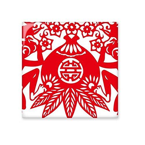 DIYthinker China Chinese Zodiac Affe Peach Papercut Traditionelle Kultur Kunst Fenster Blumen Keramik Bisque Fliesen für Dekorieren Badezimmer-Dekor Küche Keramische Fliesen Wandfliesen S Peach Küche