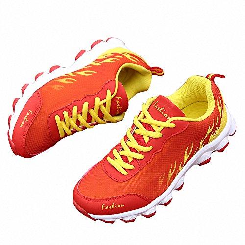 Bomkin Scarpe sportive all'aperto eleganti e confortevoli rosso
