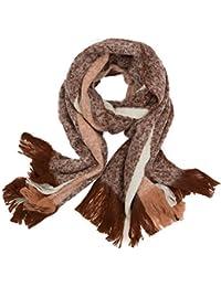 2969d98ebf260c Generic Trendiger modischer und warmer Damen Winter-Schal in XXL Übergröße  mit Fransen und Streifen