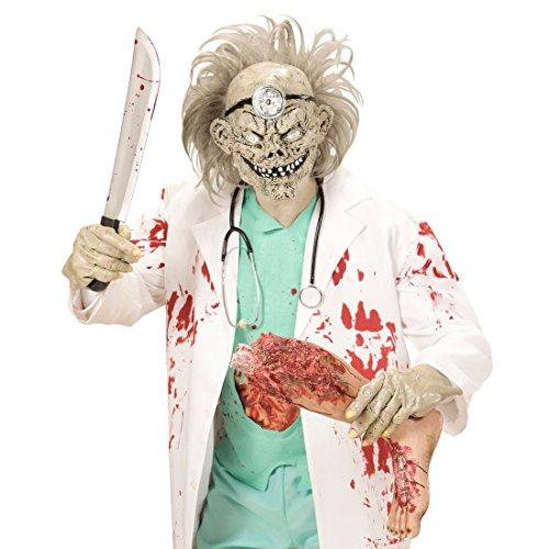 Psycho Doktor Kostüm - NET TOYS Zombiemaske Arzt Latexmaske Psycho
