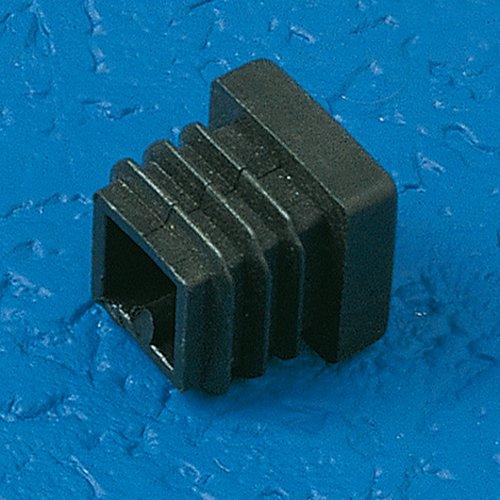 THOMAFLUID Lamellenstopfen aus LDPE - quadratisch, L: 40 mm, h: 14,5 mm, weiß, 15 Stück