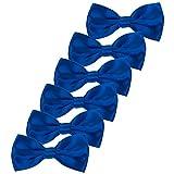 Kinder Fliege Schleife Bereits Gebunden - 6 Packung von Verstellbar Pre Tied Bowties für Hochzeit Party (Königsblau)
