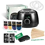 Professional 2018 Wax Warmer Home Waxing Heater Kit with Free Pro Manicure Set