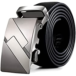 Vovotrade Los hombres de cuero automatico Moda Correa de la cintura cintura cinturon de hebilla de cinturones