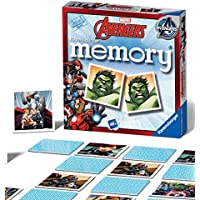 Ravensburger UK 22313 Ravensburger Marvel Avengers-Mini Memory Kids Age 3 Years and Up-A Classic Picture Snap Matching Pairs Game
