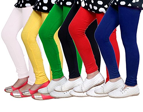 Gopani_Cotton Lycra Leggings for Woman (Pack of 6) (Free Size)