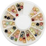Malloom® Wholesale 3D acrílico Manicura Decoración Uñas Polvo Abolorios Piedras (multicolor)