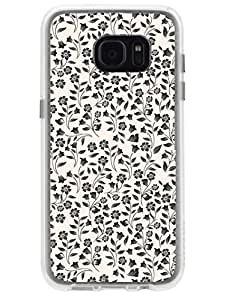 Samsun S7 Edge Cover - Girly Floral - Designer Printed Hard Case with Transparent Sides