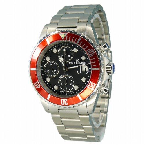 Revue Thommen–Reloj de pulsera para hombre XL Diver Cronógrafo Automático Acero inoxidable 17571.6136
