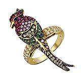 Ever Faith Damen österreichischen Kristall Emaille Party Cute Parrot Bird Animal Manschette Ring Multicolor Necklaces Halskette