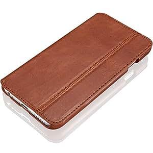 """KAVAJ Ledertasche Case Hülle """"Dallas"""" für das Apple iPhone 6S und das iPhone 6 4,7 Zoll cognac braun aus echtem Leder mit Visitenkartenfach. Dünne Klapphülle Tasche als edles Zubehör für das Original Apple iPhone 6/6S"""