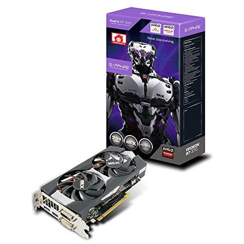 Sapphire 11240-06-20G AMD Radeon R7 370 Grafikkarte (PCI-e, 2GB GDDR5 Speicher, DVI-I/-D, HDMI, DisplayPort) (Grafikkarte Amd 2gb)
