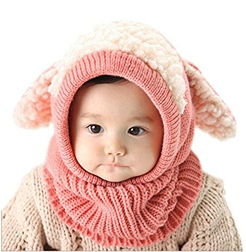 ZZLAY Lovely Baby Winter Hut Schal Earflap Hood Schals Schädel Caps Warm Knit Face Cover Balaclava (Cover Stretch-knit)