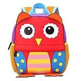 Uniqstore Kinder Rucksack Cute Cartoon Tier Schultasche Kindergartentsche für 2-5 Jungen Mädchen Eule