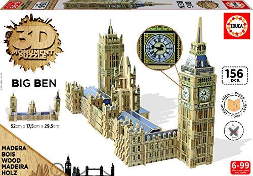 Educa Borrás - 16971.0 - Big Ben & Parliament - 3D Monument - Puzzle