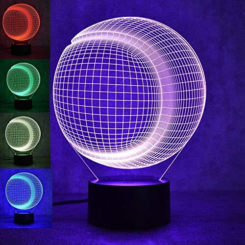 HPBN8 3D Baseball Illusions LED Lampen Tolle 7 Farbwechsel Acryl berühren Tabelle Schreibtisch-Nacht licht mit USB-Kabel für Kinder Schlafzimmer Geburtstagsgeschenke Geschenk. -