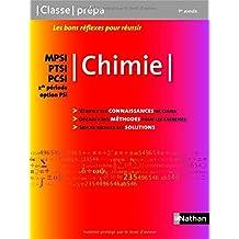 Chimie MPSI / PTSI / PCSI - 1ère année / 2de période Option PSI