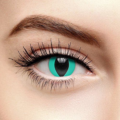 Farbige Kontaktlinsen Ohne Stärke Katzenauge Aqua (Tageslinsen)