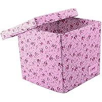 Preisvergleich für Minene 1550 Aufbewahrung Würfel Box, rosa Blumen