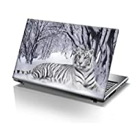 TaylorHe 15.6 inch 15 inch Laptop Skin Vinyl Decal with Colorful Patterns and Leather Effect Laminate MADE IN England
