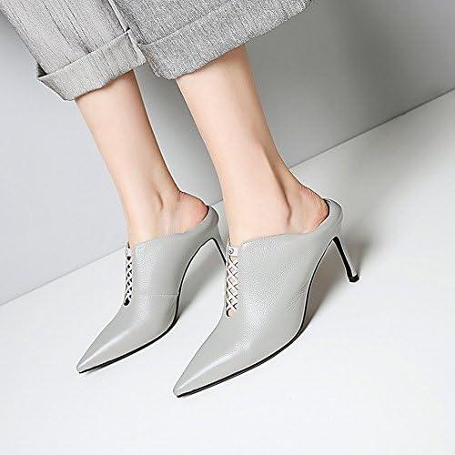 CXY Zapatillas de Deporte de Moda Occidentales Usan Zapatos de Tacón Alto, do,34