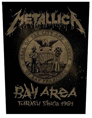 Metallica Back Patch Bay Area band logo Official Iron On Woven (36cm x 29cm) One Size
