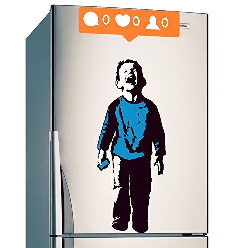 banksy-dcalque-mural-vinyle-garon-pleurant-out-pour-rseaux-sociaux-attention-plein-de-couleurs-enfan