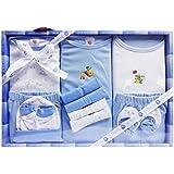 WonderKids 13 Piece Unisex Baby's Gift Set (Blue)