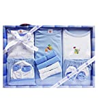 Best Gifts For Newborns - WonderKids 13 Piece Unisex Baby's Gift Set (Blue) Review