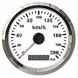 Autool GPS Geschwindigkeitsmesser Wasserdicht Edelstahl Gauge 200kmh für Auto PKW LKW Vans 12/24V