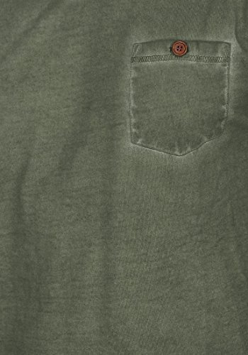 SOLID Tharan Herren Longsleeve Rundhals-Ausschnitt aus 100% Baumwolle Climb Ivy (3785)
