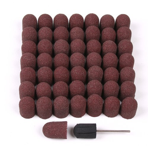 50 Schleifkappen 16mm + 1 Gummiträger